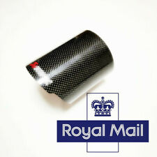 3'' Car Exhaust Tip Pipe Decor Housing Case Cover Glossy Black Carbon Fiber