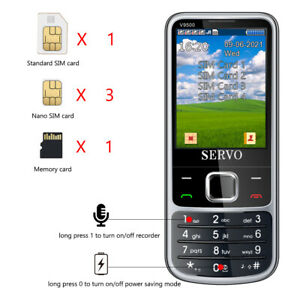 V9500 4 SIM cards 4 standby Cell phone Speed dial numbers One key recorder Magic