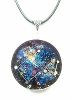 necklace Orgone protectionOrgonite pendant Constellation pegaso,stones crystals.
