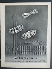 1963 Van Cleef & Arpels diamond bracelet jewelry French Jewelers vintage ad