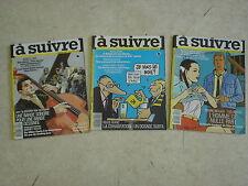 A SUIVRE Mensuel de la BD n° 110 + 111 + 114- Lot de 3 revues