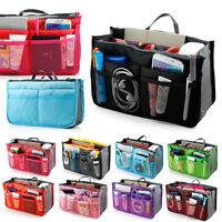 Women Cosmetic bag Toiletry Makeup bag Travel Organizer pouch Insert Handbag