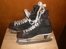 Vintage Ccm Colt Ice Skates - Size 10 - Brown