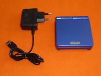 Nintendo Game Boy Advance SP Konsole blau + Kabel