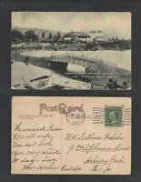 1910 KINGSTON POINT HOTEL DANCING PAVILION KINGSTON POINT PARK NY B/W POSTCARD