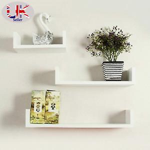 U Shape Set of 3 Wall Floating Shelf-White(Few Marks on them) Reduced Price!!!!!