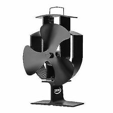 Zennox Heat Powered Stove Top Fan for Wood Burner Log Burning Fire 3 Blades