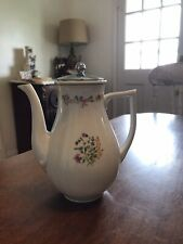 Vintage Limoges Denby French Teapot With Chrome Lid. MINT