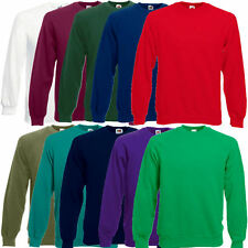 Fruit of the Loom Herren Sweatshirt Raglan Pullover Sweat S M L XL XXL