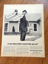 1961 John Hancock Insurance Ad Homeowners