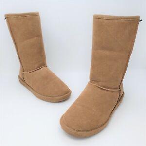 Bearpaw Womens Emma Brown Suede Sheep Skin/Wool Boots Size US 9 EUR 40 610W