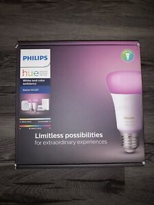 Philips Hue White and color ambiance Starter kit E27, 2 Bulbs, Bridge, Switch ++