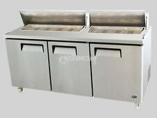 New Atosa Salad Prep Table, Top Reach-In Refrigerator, 72 in - MSF8304
