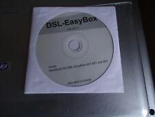 DSL-EASYBOX HANDBUCH CD FÜR DSL-EASYBOX 401,601 und 801 60001615/0408