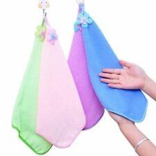 1PC Baby Kids Hand Towel Sunflower Kitchen Soft Plush Hanging Wipe Bathing Towel