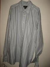 Eddie Bauer Classic Fit Blue Striped Cotton LS Shirt XLT EUC