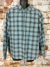 Guide & Outfitters By Panama Jack 2XL Long Sleeve Button-Up Blue Plaid Shirt