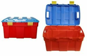 40L Children Kids Plastic Toy Storage Chest Box Clip on Lid Container Lego Books