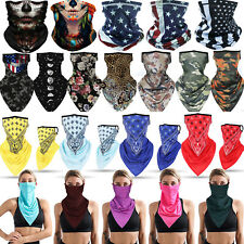Summer Breathable Neck Gaiter Tube Bandana Scarf Face Cover Ear Loop Balaclava