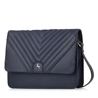 Radley Hello Lovely Large Flapover Matinee Purse Navy With Dust Bag
