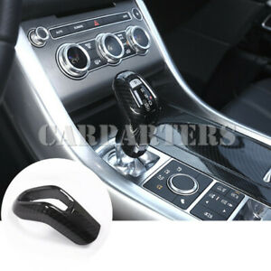 For Land Rover Range Rover Sport Carbon Fiber Style Gear Shift Knob Cover(14-17)
