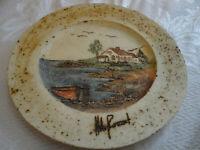 Studio Hubert Du Roscoat Art Pottery Wall Plate