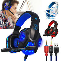Gaming Headset Stereo 3.5mm Headphone w/ Mic For PS4 Xbox One PC Nintendo Switch