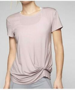 Athleta Ultimate Side Knot Tee Soft Lilac-L