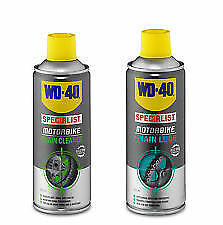 WD40 MOTORCYCLE CHAIN LUBE 400ML and CHAIN CLEANER 400ML Ltd Offer