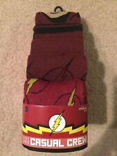 NEW! The Flash-Men's 5 Pair CREW SOCKS shoe 8-12