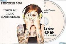 UNIVERSAL RENTREE 2009 CLASSIQUE JAZZ CD COMPILATION PROMO sting jamie cullum