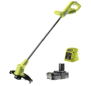 Ryobi 18V 2.0Ah Cordless Line Trimmer  includes a 2.0Ah battery and a 1.5A charg