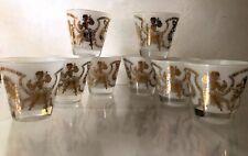 Vintage 1940s-1950s CALYPSO~8pc~OLD FASHIONED GLASSES~8oz~BAR~TUMBLERS~CARIBBEAN