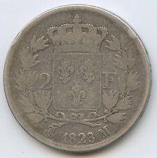 Louis XVIII (1814-1824) 2 Francs argent 1823 M Toulouse