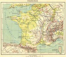 FRANCE. Frankrijk 1922 old vintage map plan chart