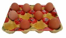 Egg Box Tray Holder For 12 Eggs 24.5 x 18.5 cm Spanish Handmade Ceramic Pottery