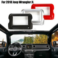 Carbon Fiber GPS Navigation Panel Cover Trim For Jeep For Wrangler JL 2018