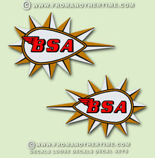 BSA Restorers - TANK DECALS - 1 Pair 1965 on