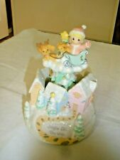 Precious Moments Music Box Jingle All The Way Spinning Plays Jingle Bells 2003