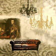Valerie Deleau: Vincennes I Fertig-Bild 70x70 Wandbild Interieur Barock Leuchter