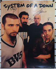 SYSTEM OF A DOWN Autographed Signed Steal This Album Promo Poster By All 4