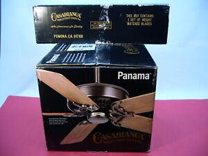 "Casablanca Ceiling Fan New Panama Series Model 6673G Bronze 21"" Blades"