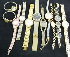 Job Lot Of Women's Gold Tone Bracelet Watches Need New Battery x 11