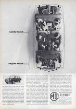 1963 MGB British Motor Corporation MG Sports Sedan Interior Cutaway PRINT AD
