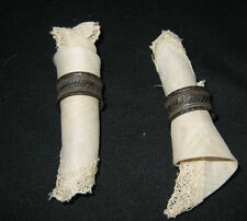 Child's antique doll toy napkins & napkin holders