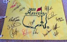 MASTERS 2015 FLAG SIGNED BY 15 INC WINNER JORDAN SPIETH & ARNOLD PALMER