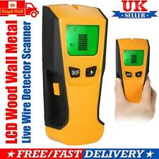 3 in 1 LCD Stud Wood Wall Center Finder Scanner Metal AC Live Wire Detector UK