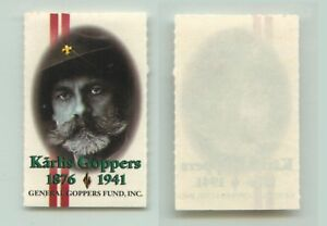Latvia 🇱🇻 1978, exile MNH, pair, cover cut, General Goppers Fund. e7030