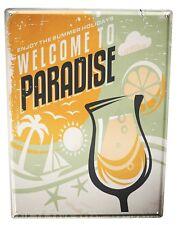 Tin Sign XXL Retro  Welcome Paradise