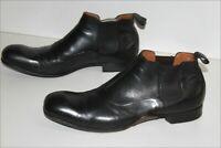 KENZO Boots Homme Cuir Noir Doublées Cuir T 8.5 UK / 42.5 FR  TBE